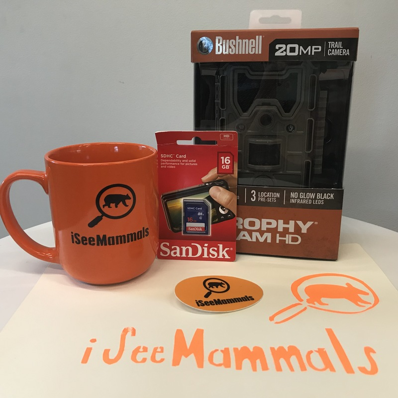 iSeeMammals swag and trail camera packages, 2018 contest